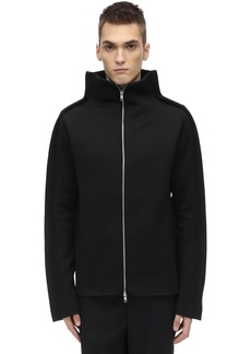 Maison Margiela Tubular Wool Blend Jersey Jacket