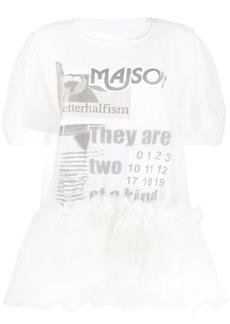 Maison Margiela tulle-layered T-shirt