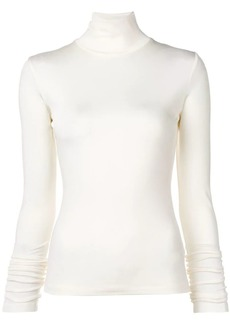 Maison Margiela turtle-neck fitted top