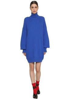Maison Margiela Turtleneck Mohair Rib Knit Sweater Dress