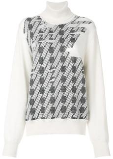 Maison Margiela turtleneck patterned jumper