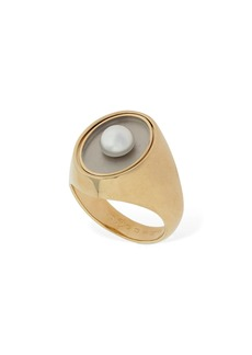 Maison Margiela Twisted Thick Ring W/ Imitation Pearl
