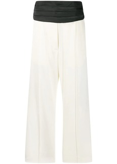 Maison Margiela two tone cropped trousers