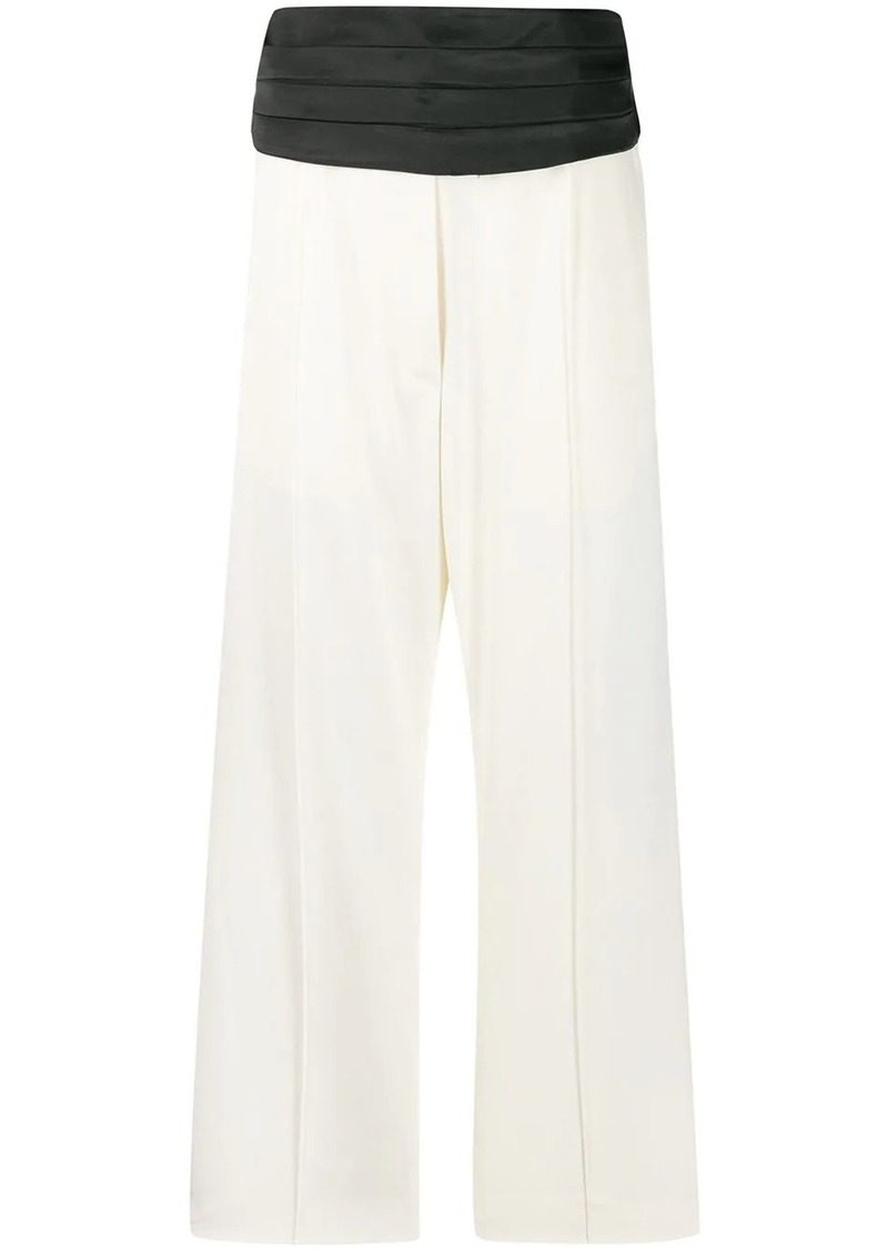 Maison Margiela two tone cropped trousers