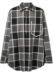 Maison Margiela two-tone large checked shirt