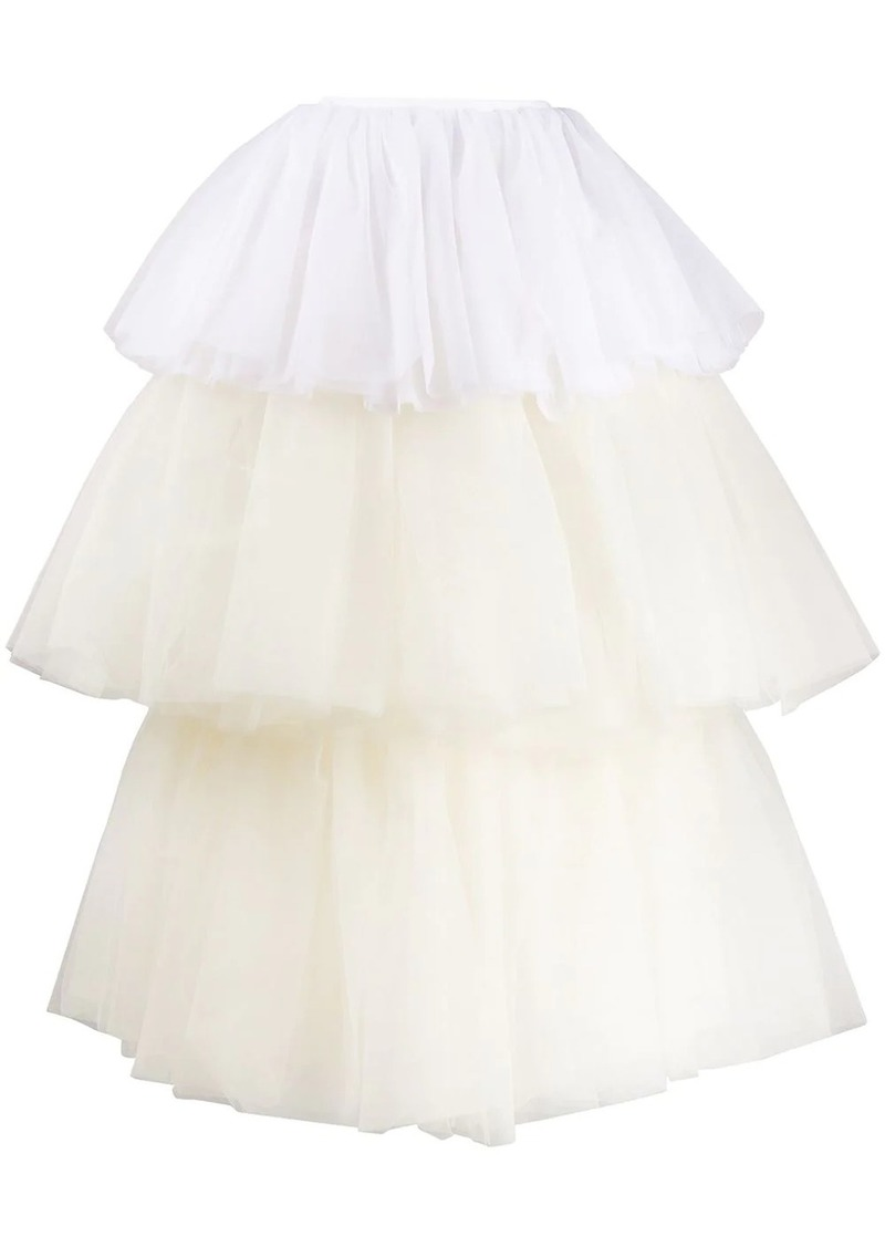 Maison Margiela two-tone tulle tiered skirt