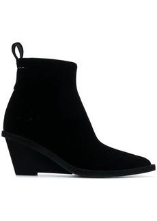 Maison Margiela velvet pointed boots