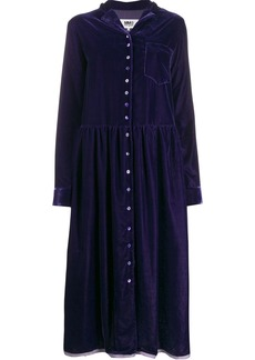 Maison Margiela velvet shirt dress