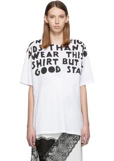 Maison Margiela White AIDS Charity Print T-Shirt