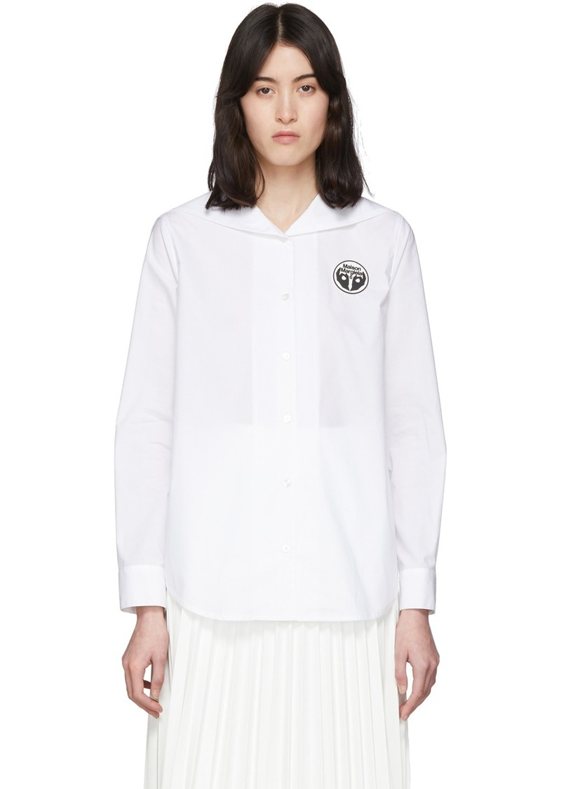 Maison Margiela White Back Flap Shirt