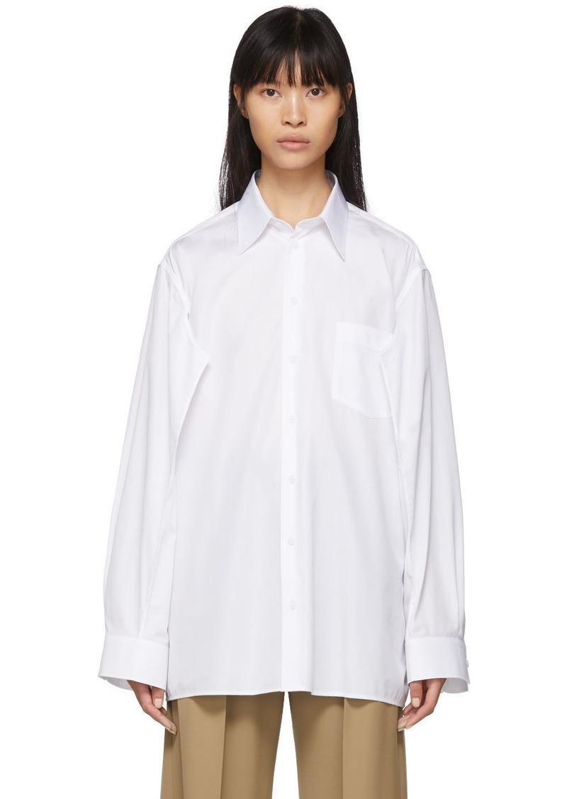 Maison Margiela White Double Arm Shirt