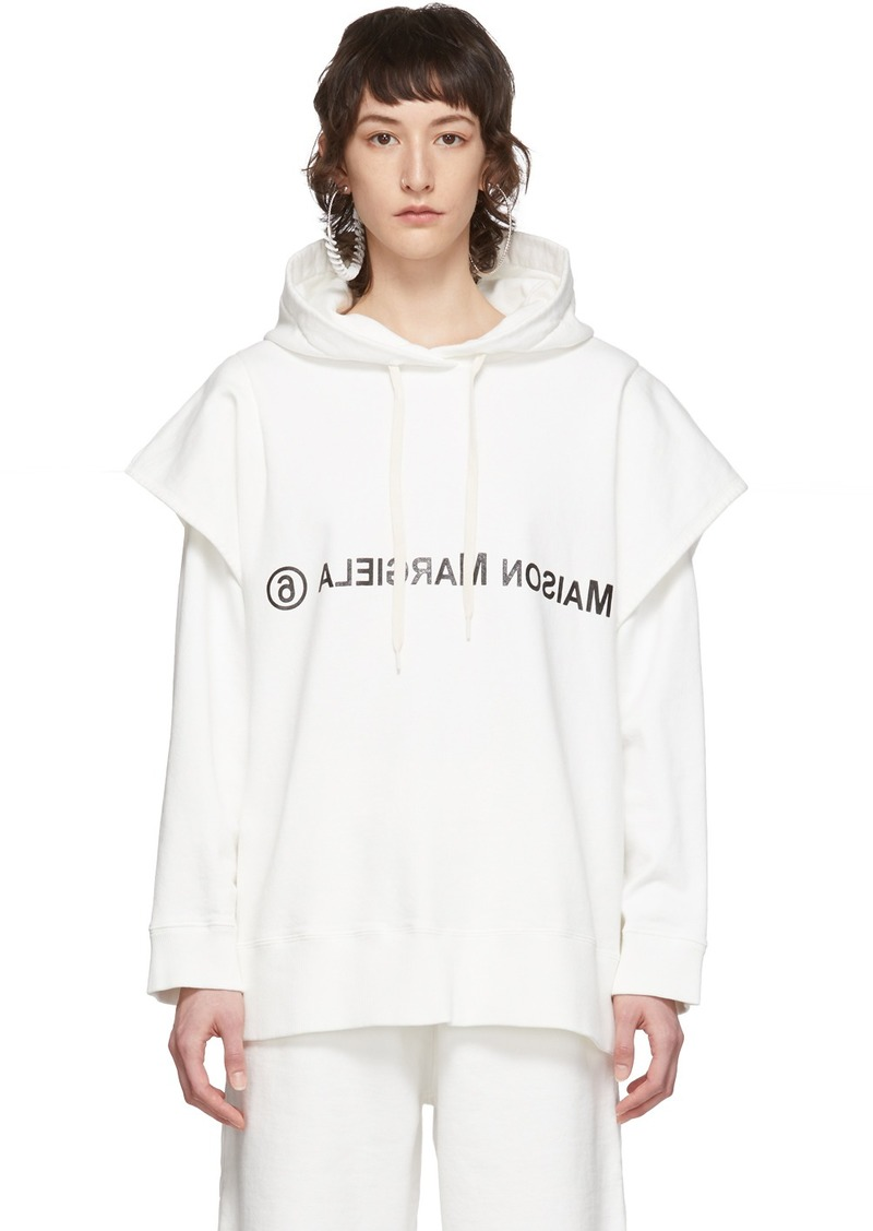 Maison Margiela White Double Layered Hoodie