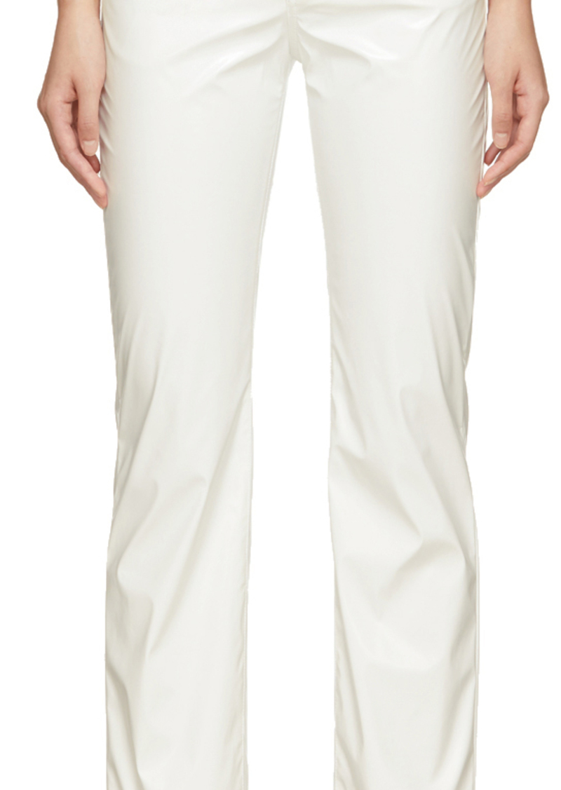 Maison Margiela White Faux-Leather Trousers