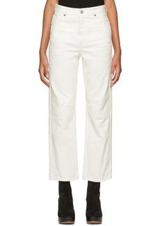 Maison Margiela White Garment-Dyed Jeans