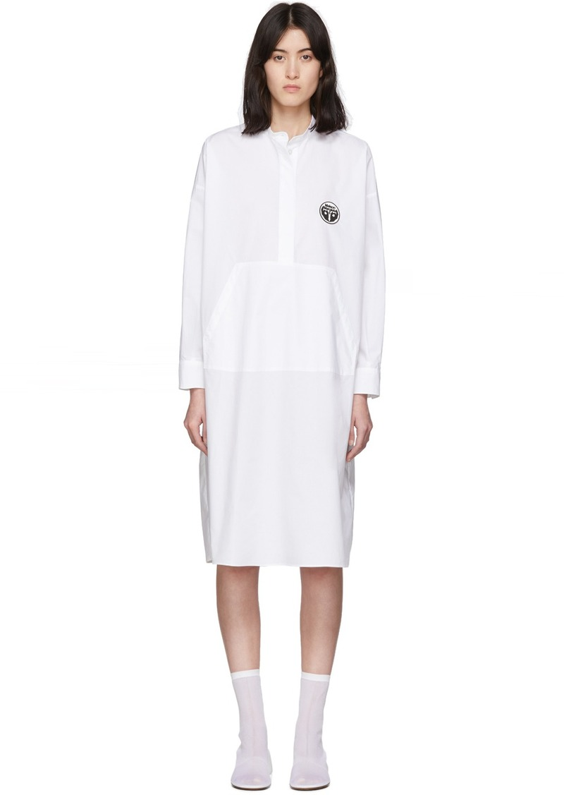 Maison Margiela White Kangaroo Pocket Dress