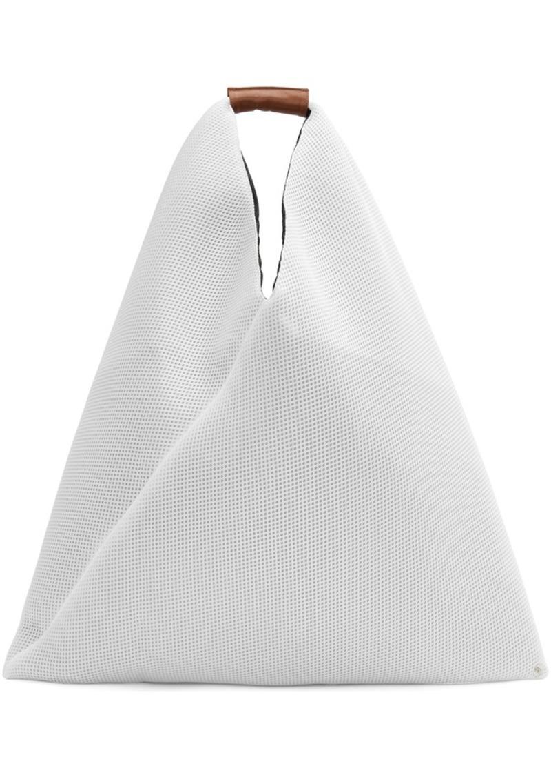 Maison Margiela White Large Mesh Triangle Tote