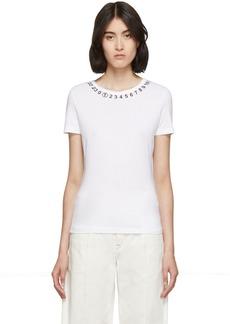 Maison Margiela White Logo Collar T-Shirt