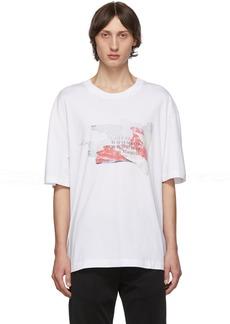 Maison Margiela White Logo Destroyed Tab T-Shirt