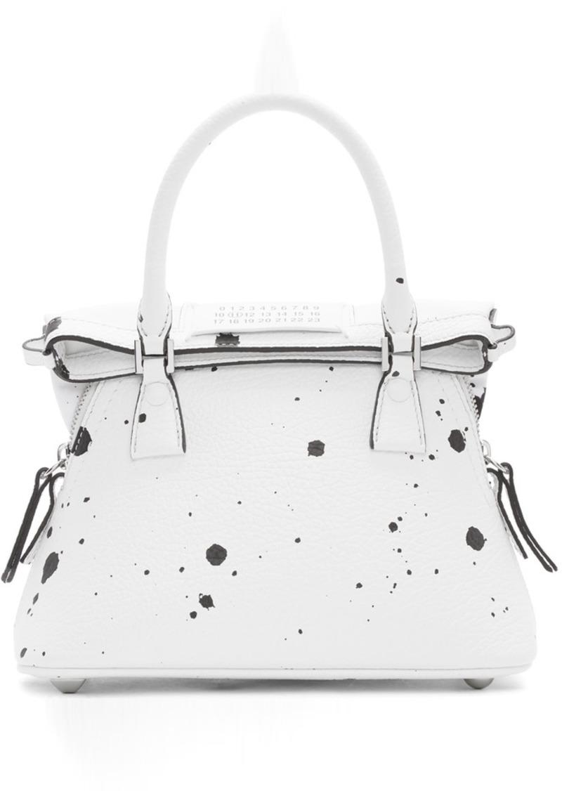 Maison Margiela White Paint Splatter Small 5AC Bag