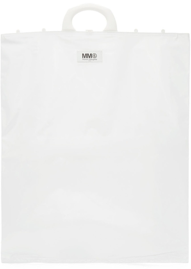 Maison Margiela White Rectangle Shopping Tote