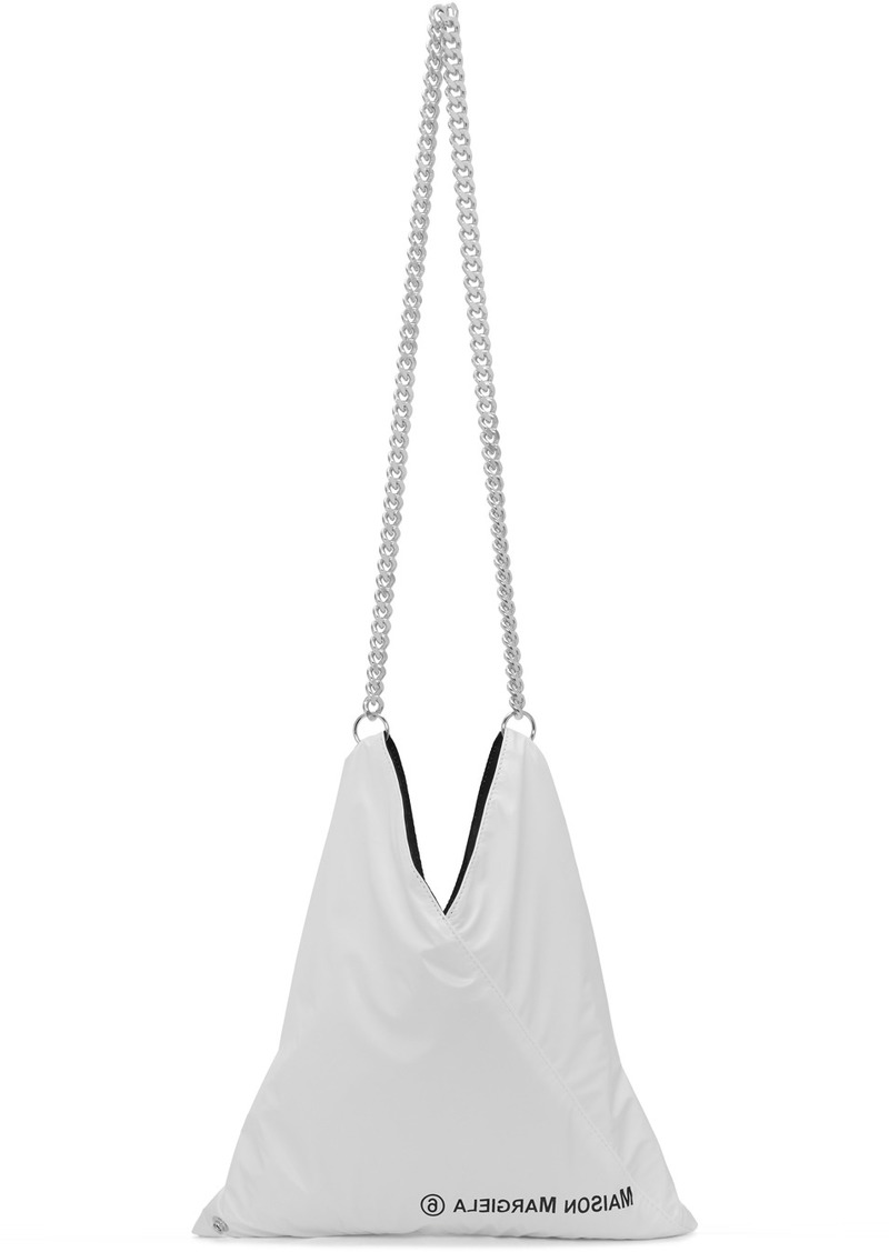 Maison Margiela White Shiny Japanese Shoulder Bag