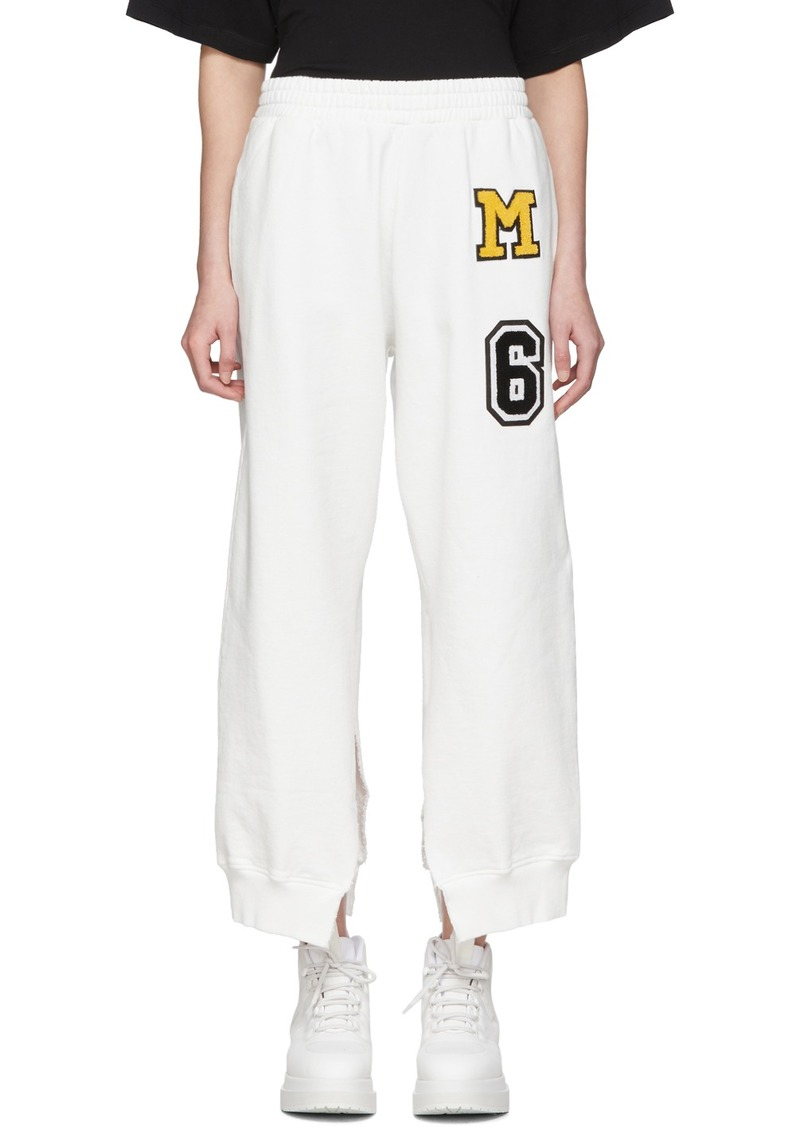 Maison Margiela White Split Seam Lounge Pants