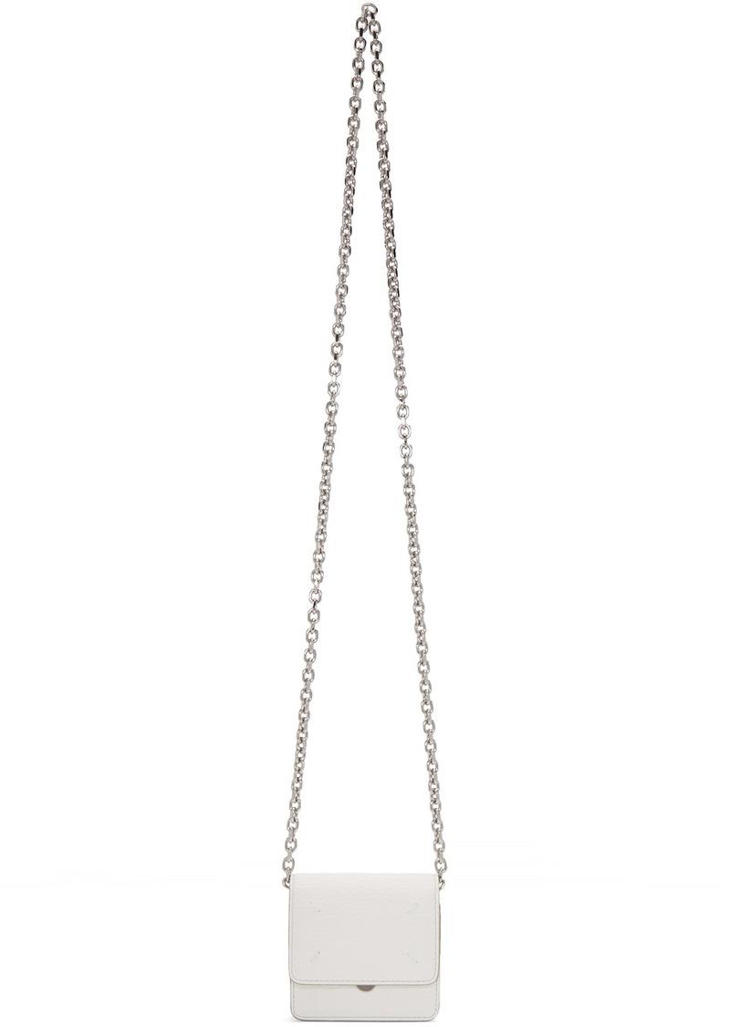 Maison Margiela White Stitch Chain Wallet Bag