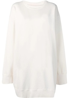 Maison Margiela white sweater dress