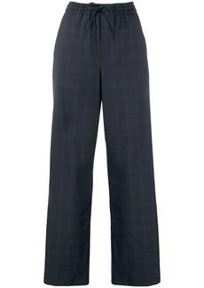 Maison Margiela wide leg checked trousers