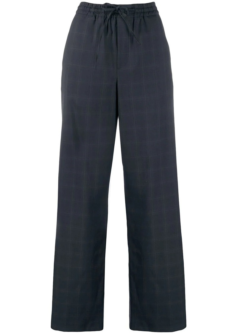 Maison Margiela wide leg checked trousers