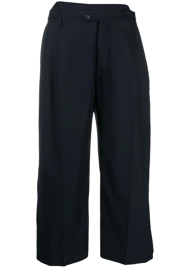 Maison Margiela wide-leg cropped trousers