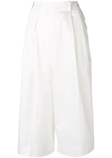 Maison Margiela wide leg cropped trousers