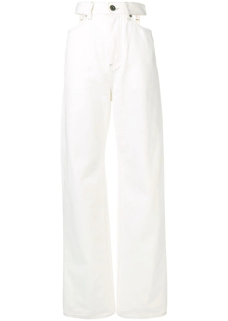 Maison Margiela wide leg cut-out jeans