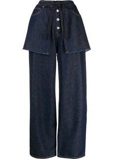 Maison Margiela wide-leg layered jeans