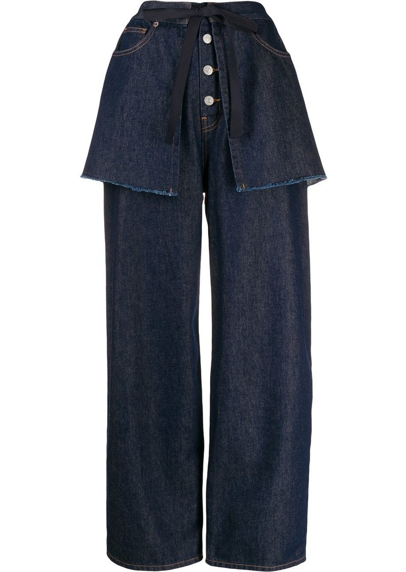 Maison Margiela wide-leg layered jeans