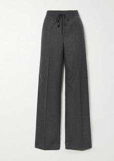 Maison Margiela Wool-blend Flannel Wide-leg Pants