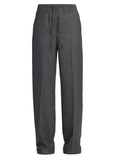 Maison Margiela Wool Flannel Drawstring Waist Trousers