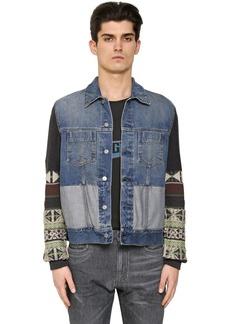 Maison Margiela Wool Jacquard & Cotton Denim Jacket