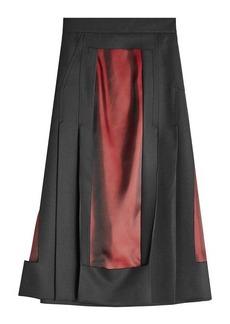 Maison Margiela Wool Skirt with Satin Panels