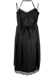 Maison Margiela wrap tie slip dress