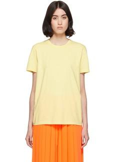 Maison Margiela Yellow Embroidered Logo T-Shirt
