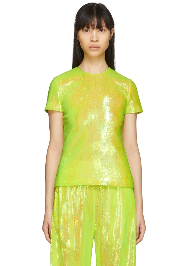 Maison Margiela Yellow Sequin Blouse