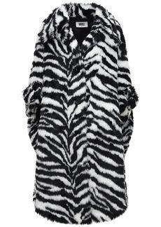 Maison Margiela Zebra Print Faux Fur Coat
