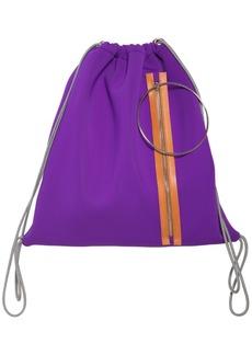 Maison Margiela Zip & Hoop Neoprene Drawstring Backpack