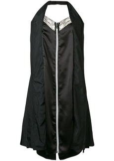 Maison Margiela zip front halter slip dress
