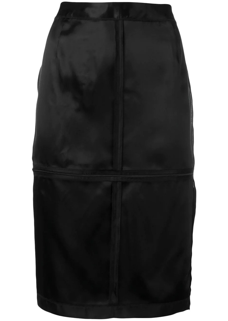 Maison Margiela zip panelled pencil skirt
