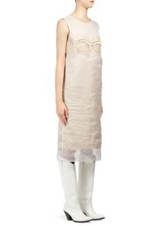 Maison Margiela Bra Detail Silk Organza Shift Dress