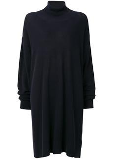 Maison Margiela roll neck knitted dress - Black