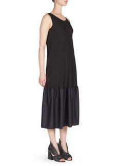 Silk Georgette Hem Dress