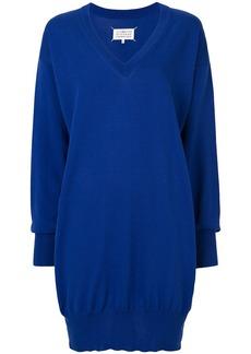 Maison Margiela slouched sweater dress - Blue